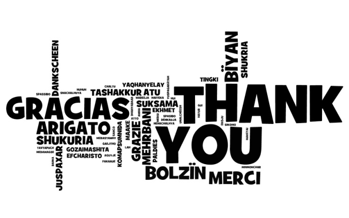 Thank you word cloud image